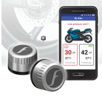 Silver FOBO Bike 2 TPMS for Motorcycles & Scooters